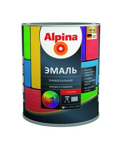 Эмаль Alpina универсальная База 1 Белая глянцевая 0,75 л