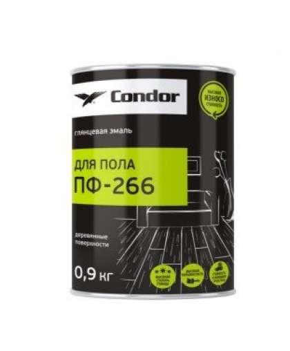 Эмаль Condor ПФ-266 для пола красно-коричневый 0.9 кг
