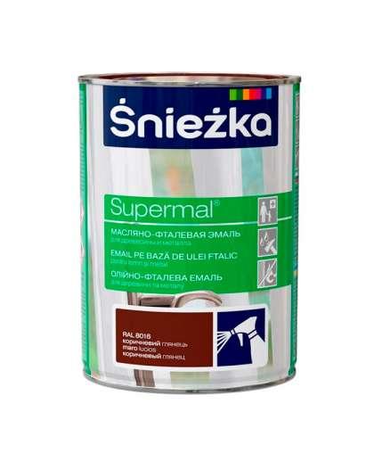 Эмаль масляно - фталевая Sniezka Supermal для дерева и металла 0.8 л коричневый