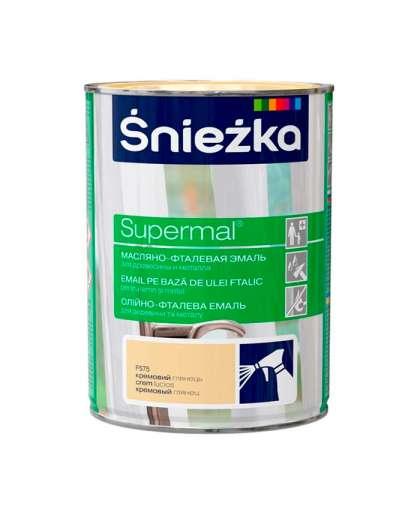 Эмаль масляно - фталевая Sniezka Supermal для дерева и металла 0.8 л кремовый