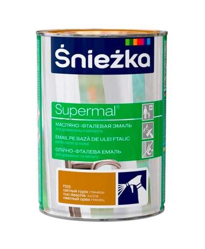Эмаль масляно - фталевая Sniezka Supermal для дерева и металла 0.8 л орех светлый