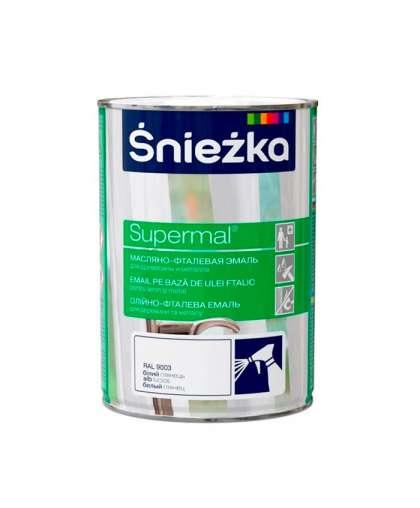 Эмаль масляно - фталевая Sniezka Supermal для дерева и металла 0.8 л белая
