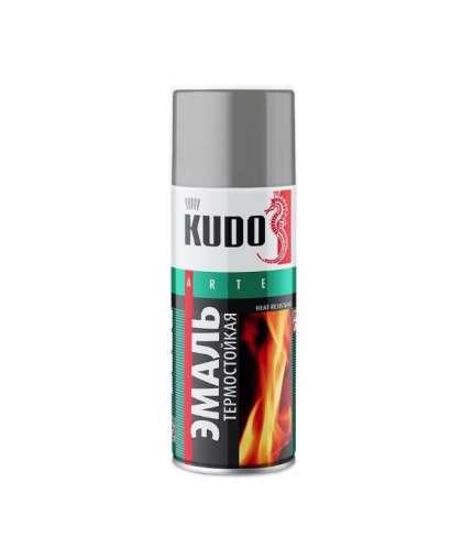 Эмаль термостойкая Kudo KU-5001 520 мл серебристая