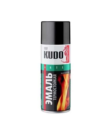 Эмаль термостойкая Kudo KU-5002 520 мл черная