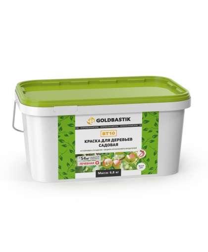 Краска Goldbastik ВТ 10 для деревьев садовая 6.8 кг