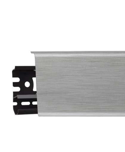 Плинтус напольный Arbiton Indo 41 Алюминий свет 2500*26*70 мм