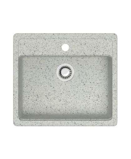 Мойка из искусственного камня Berge BR-5750 с сифоном серый
