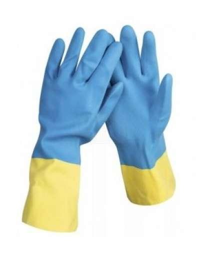 Перчатки хозяйственные AST 8900471 двойной цвет размер L