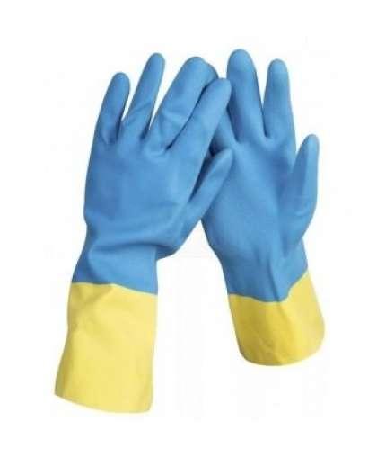 Перчатки хозяйственные AST 8900472 двойной цвет размер S
