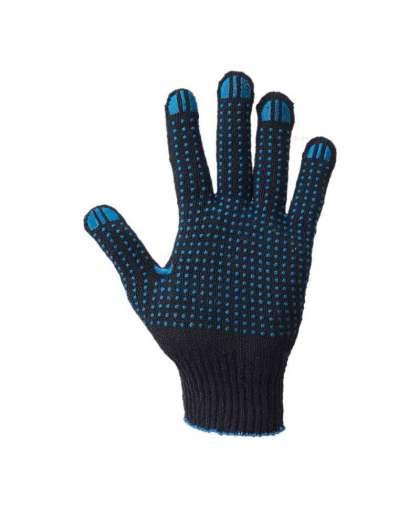 Перчатки хлопчатобумажные Bilt 8902867 7.5 класс 7-нитка с ПВХ черные