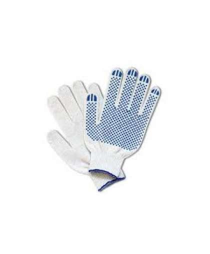 Перчатки хлопчатобумажные Bilt 8901481 10 класс 4-х нитка с ПВХ  белые