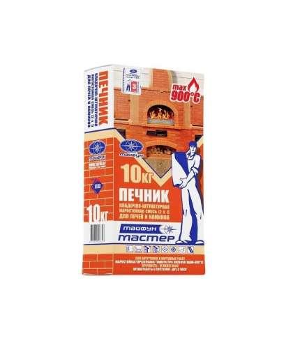 Кладочно-штукатурная смесь Тайфун Мастер Печник жаростойкая 10 кг