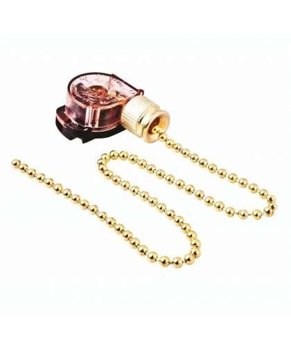Выключатель для настенного светильника с цепочкой 270 мм Gold PROCON, Rexant