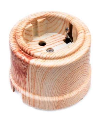 Розетка Bironi B1-101-13 с заземлением карельская сосна