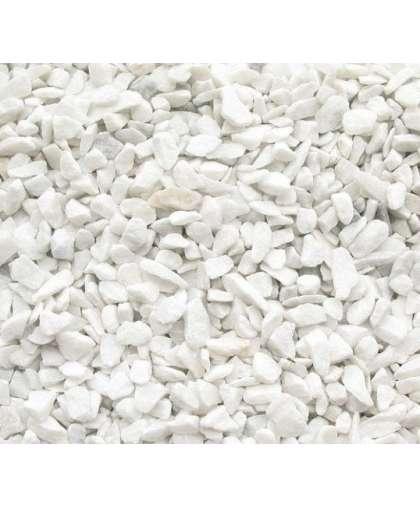 Щебень декоративный мраморный 7-12 мм белый 20 кг КМЦ