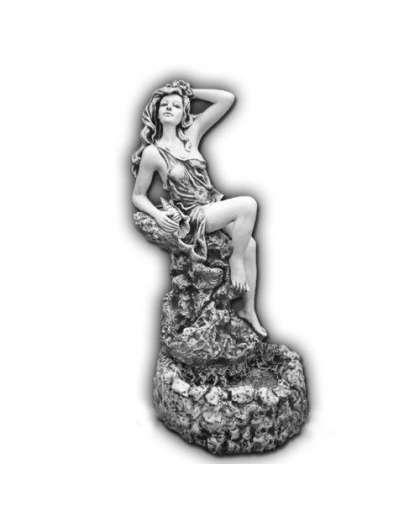 Изделие Фонтан девушка на камне Ф108