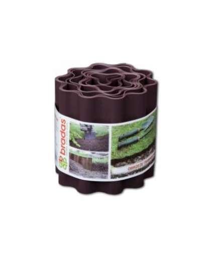 Лента газонная 9м*15см полипропилен коричневая волнистая ЛГКВ15