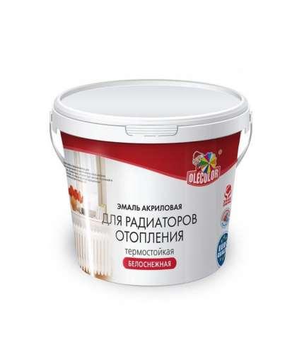 Эмаль акриловая для радиаторов отопления Olecolor 1 кг