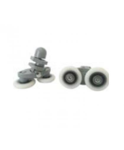 Ролик для душ/каб. к-кт, 4 двойных эксцентрических, корпус пластик, диаметр колесика 25 мм, БЛИСТЕР