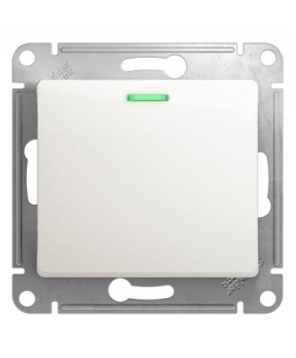 Выключатель Glossa GSL000613 1 клавиши с подсветкой перламутр, Schneider Electric