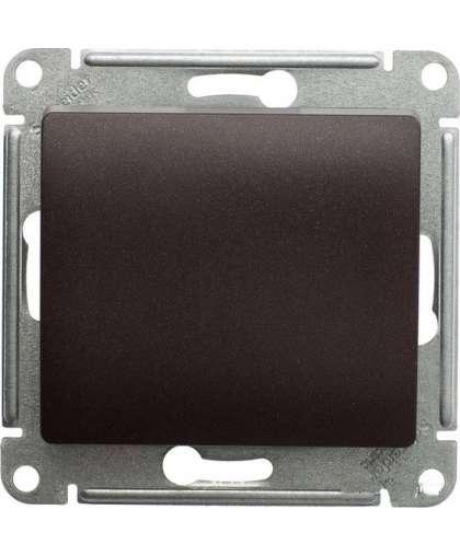 Выключатель Glossa GSL000811 1 клавиша без подсветки шоколад, Schneider Electric