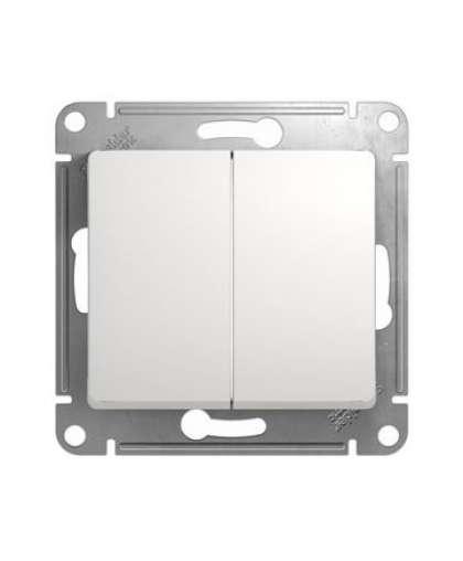 Выключатель Glossa GSL000151 2 клавиши без подсветки белый, Schneider Electric