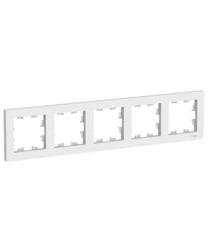 Рамка AtlasDesign ATN000105 5 постов белый, Schneider Electric