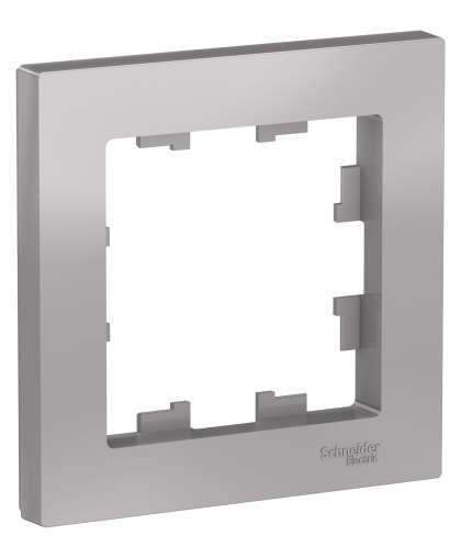 Рамка AtlasDesign ATN000301 1 пост алюминиевый, Schneider Electric