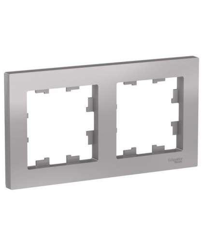 Рамка AtlasDesign ATN000302 2 пост алюминиевый, Schneider Electric