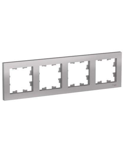 Рамка AtlasDesign ATN000304 4 поста алюминиевый, Schneider Electric