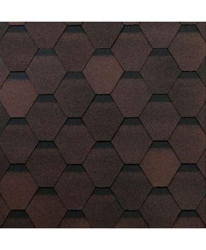 Гибкая черепица Технониколь Оптима коричневая