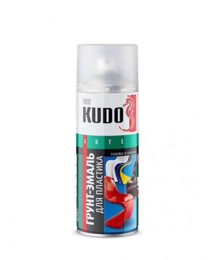 Грунт-эмаль аэрозольная KUDO KU-6002 RAL 9005 Черная 520 мл