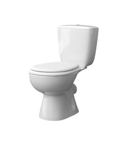Компакт-унитаз Керамин Позитано белый сиденье Гранд МС арматура 2 режима
