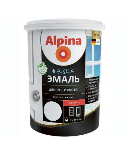 Эмаль Alpina Аква Эмаль для окон и дверей 0.9 л Белая