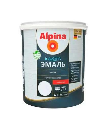 Эмаль Alpina Аква Эмаль для окон и дверей 2.5 л Белая