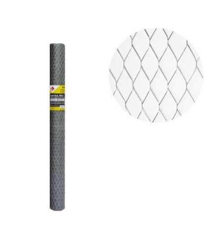 Сетка просечно-вытяжная оцинкованная  0,5мм-17х40ммх0.5х1мх10м