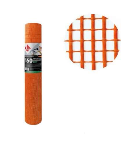 Стеклосетка 5*5 оранжевая 50 м, Lihtar