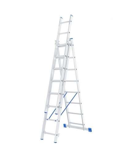 Лестница трехсекционная 97818 3*8 ступеней, Сибртех