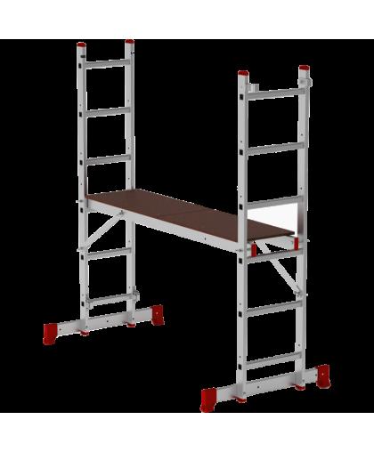 Лестница-помост Новая высота 1415206 2*6 ступеней макс высота 2.66 м