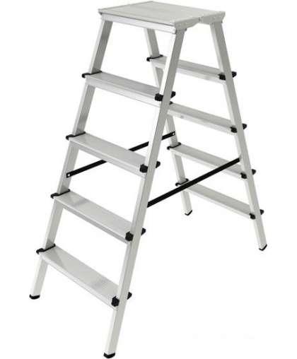 Лестница двухсекционная Новая высота 2120205 2*5 ступеней макс высота 1.1 м