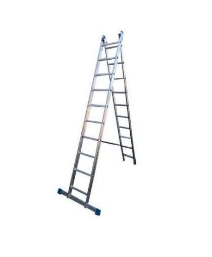 Лестница двухсекционная Tarko Prof 02212 2*12 ступеней макс высота 5.67 м