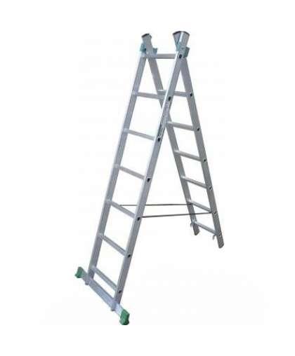 Лестница двухсекционная Skala 01211 2*11 ступеней макс высота 5.07 м