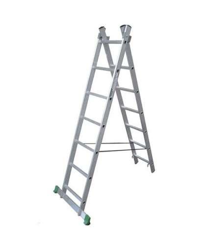 Лестница двухсекционная Tarko Prof 02214 2*14 ступеней макс высота 6.8 м