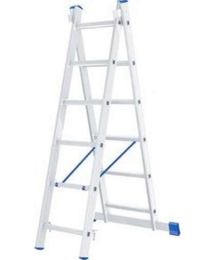 Лестница двухсекционная Сибртех 97906 2*6 ступеней макс высота 2.52 м