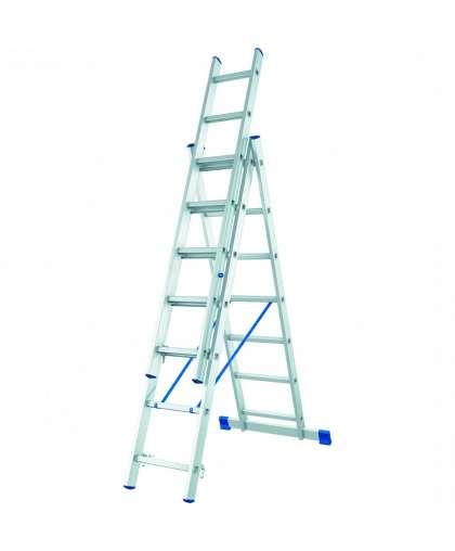 Лестница трехсекционная 97817 3*7 ступеней, Сибртех