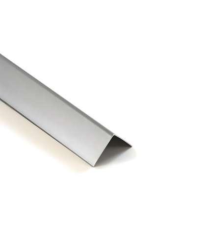 Уголок ПВХ Ideal 081 Металлик серебристый 15*15*2700 мм