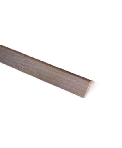 Уголок ПВХ Ideal 253 Ясень серый арочный 20*12*2700 мм