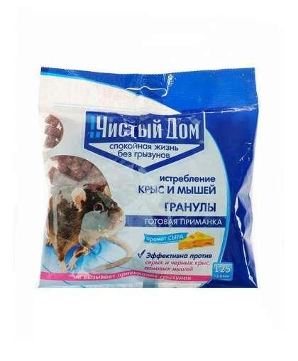 Гранулы от крыс и мышей Чистый Дом 2242177 с запахом сыра 125 г