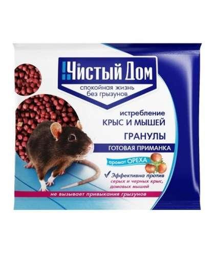 Гранулы от крыс и мышей Чистый Дом 2242178 с запахом ореха 125 г
