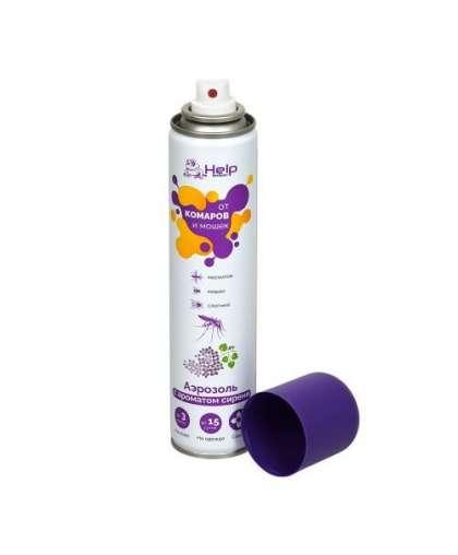 Аэрозоль от комаров и мошек Help Сирень 80219 репеллентный 200 мл